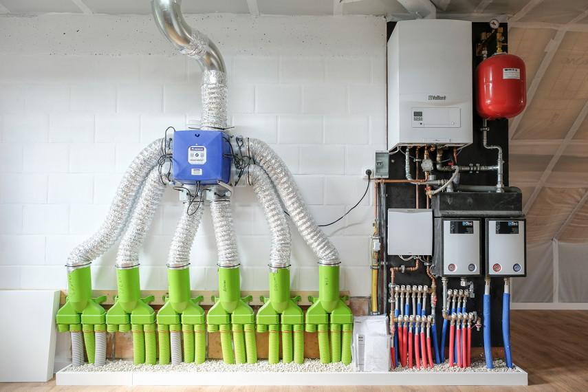 Installaties voor PV-panelen in een nieuwbouw BEN-woning