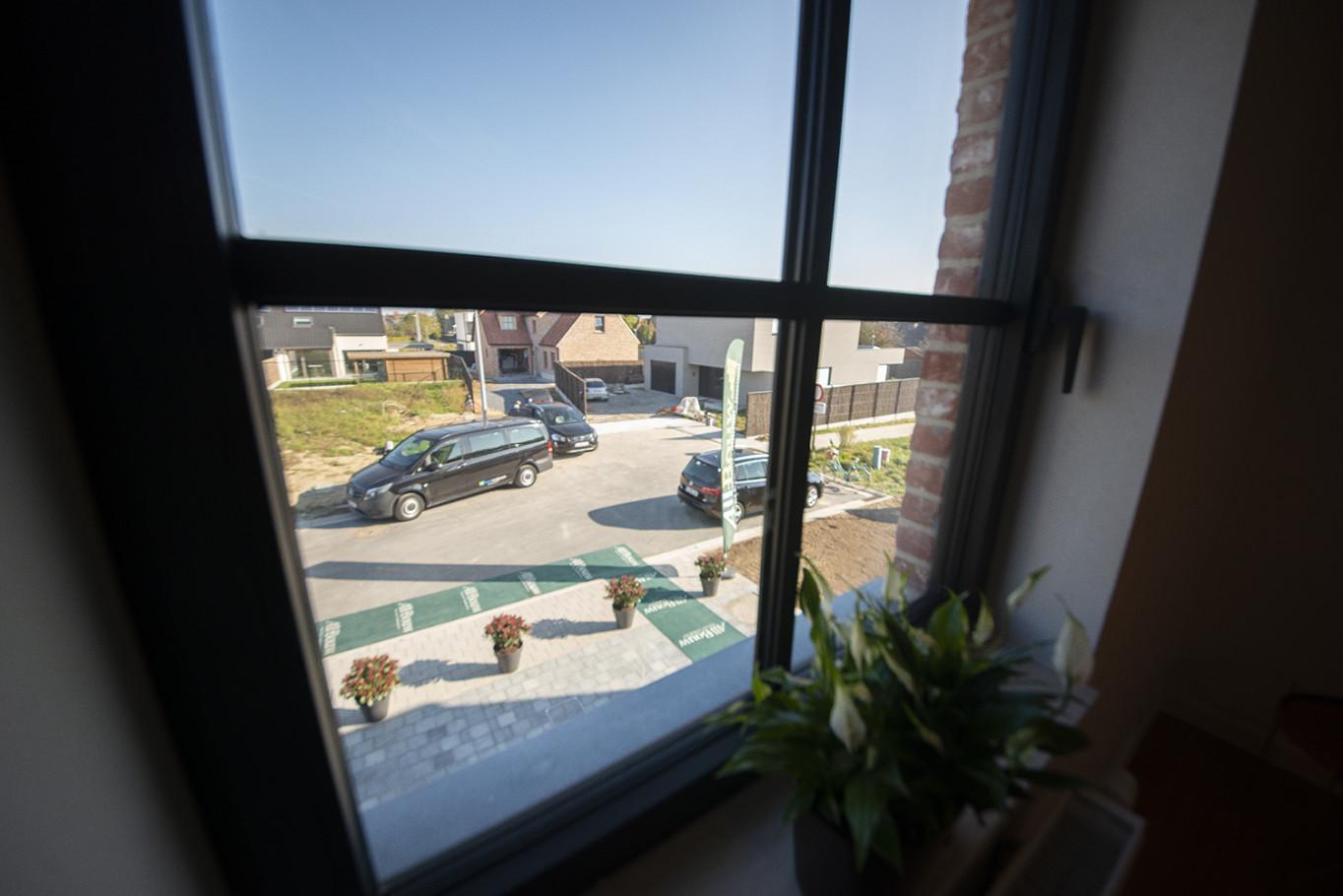 Uitzicht vanuit woning op verkaveling Te Groeneweghe in Roeselare