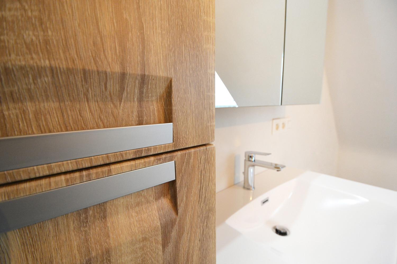 De badkamer werd ontworpen op maat van de bouwheer