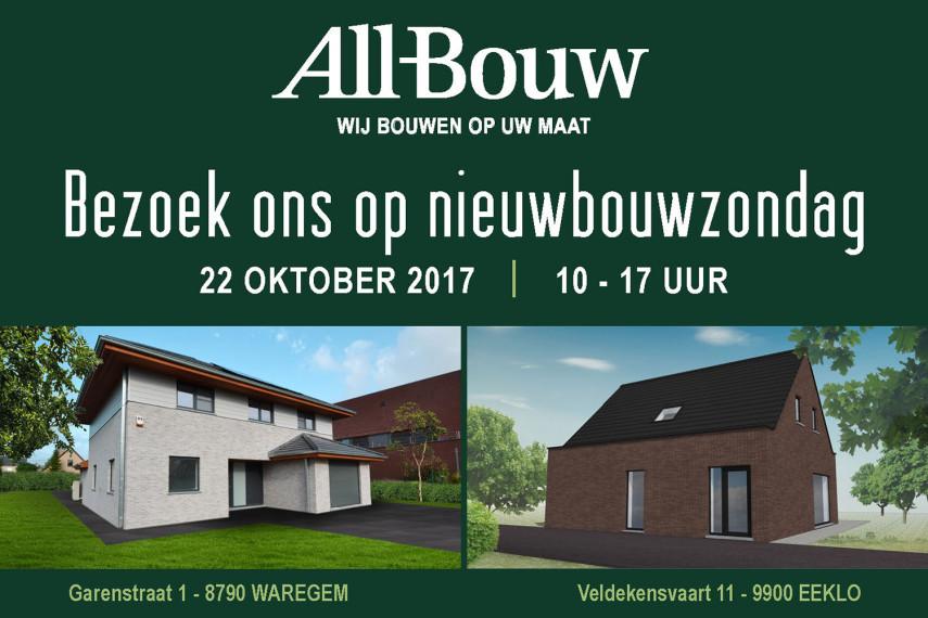 Nieuwbouwzondag 2017 bij All-Bouw in Waregem en Eeklo