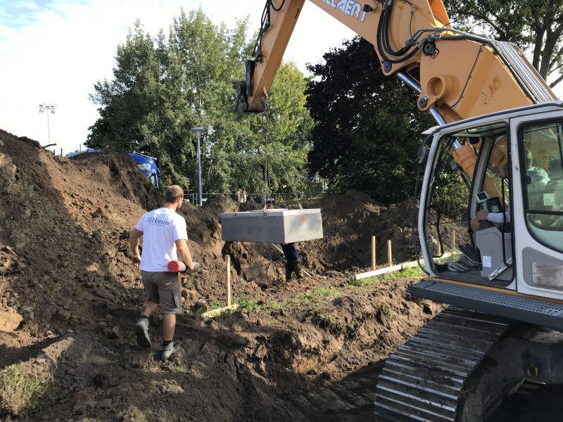 werf All-Bouw grondwerken fundering kraan