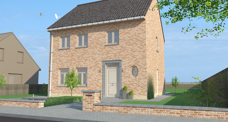 Nieuwbouw typeplan 'Bazel' voor een open bebouwing in landelijke stijl
