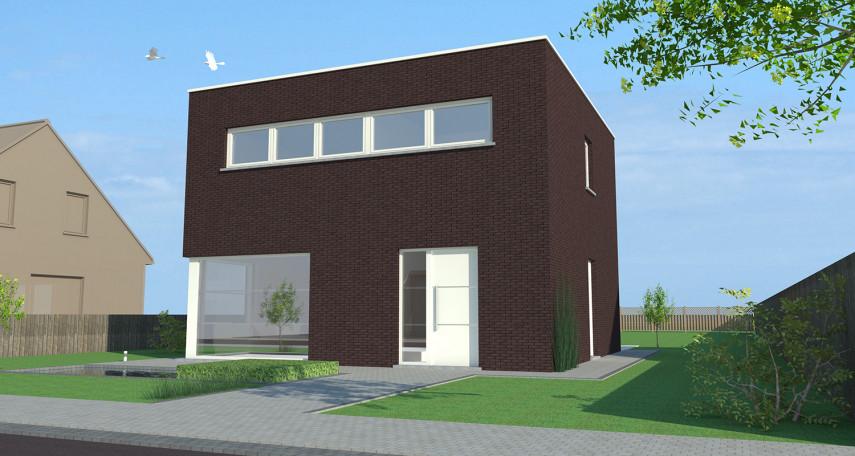 Nieuwbouw typeplan 'Bazel' voor een open bebouwing in hedendaagse stijl