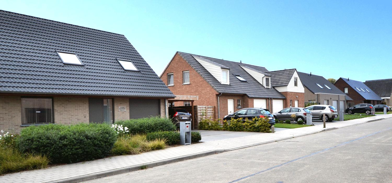 Nieuwbouwproject in de Abeelstraat te Roeselare door bouwfirma All-Bouw