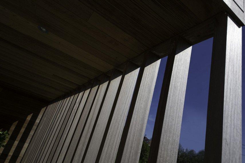 Architecturaal opvallende elementen in nieuwbouw bungalow