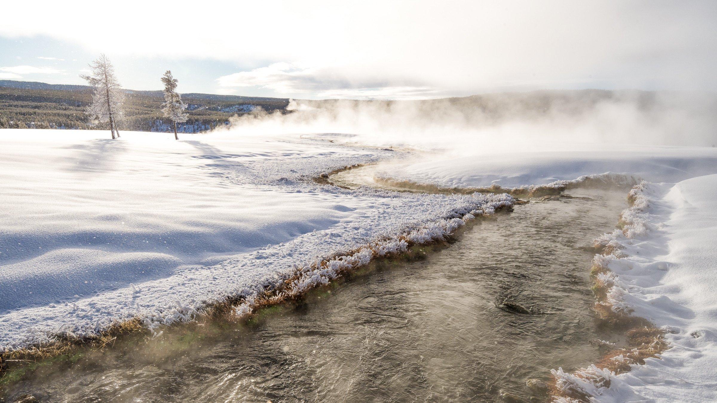 landschap Yellowstone 1690
