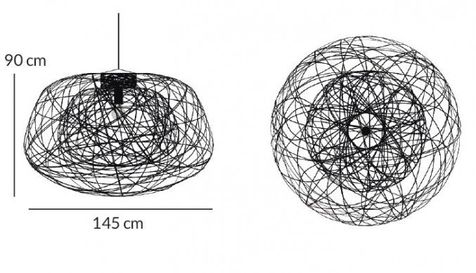 Lightornament ceiling lighting indus black large measurements, carbon decoration