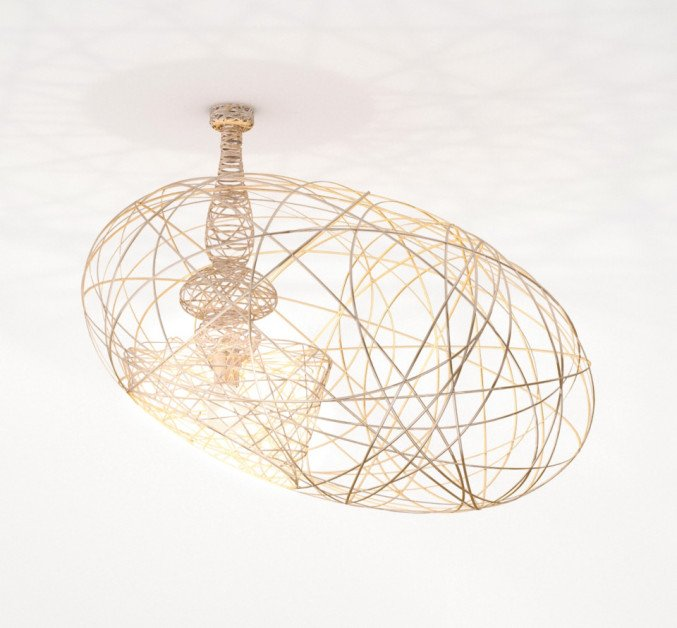 lightornament ceiling lighting fornax gold, carbon decoration