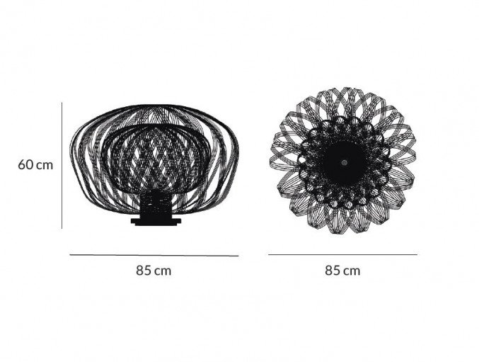 lightornament free standing light crux black, carbon decoration