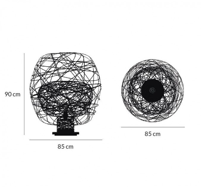 Lightornament free standing light virgo black measurements, carbon decoration