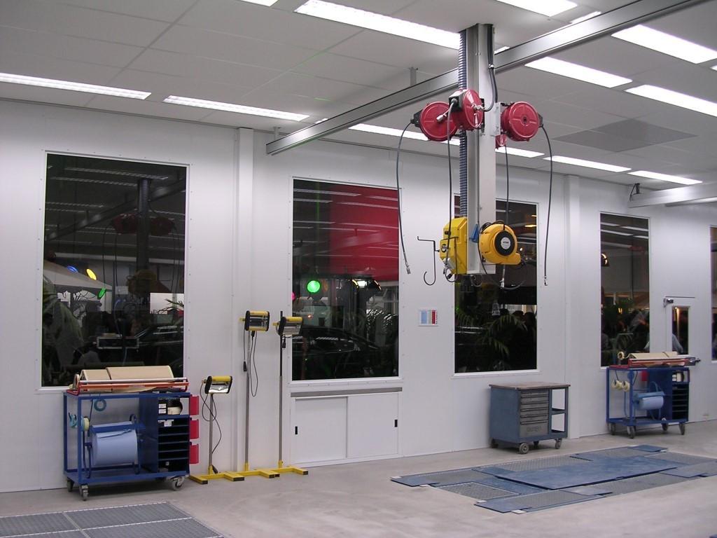 Preparation equipment for coachwork