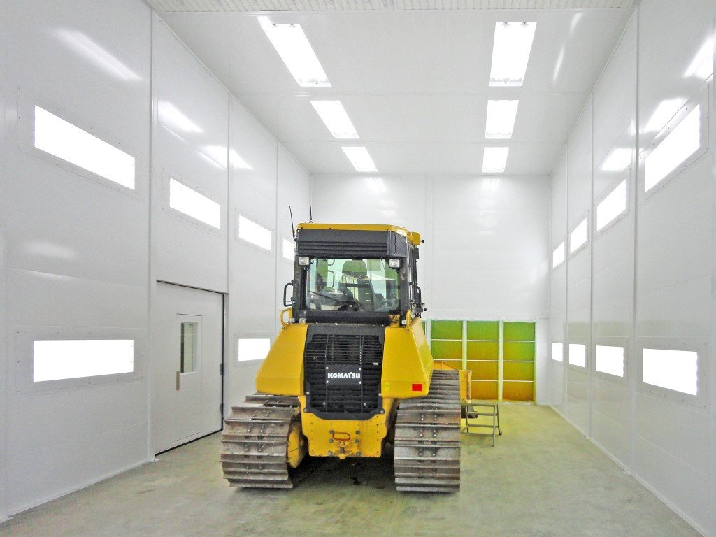 Big spraybooth for bulldozer, power shovel, excavator