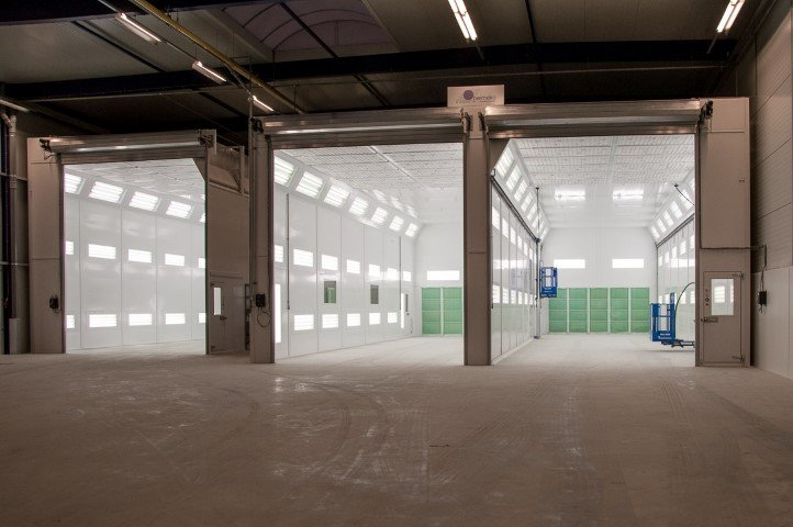 3 truck spray booths
