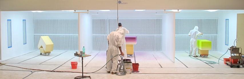 Installation d'aspiratoin pour différents peintres