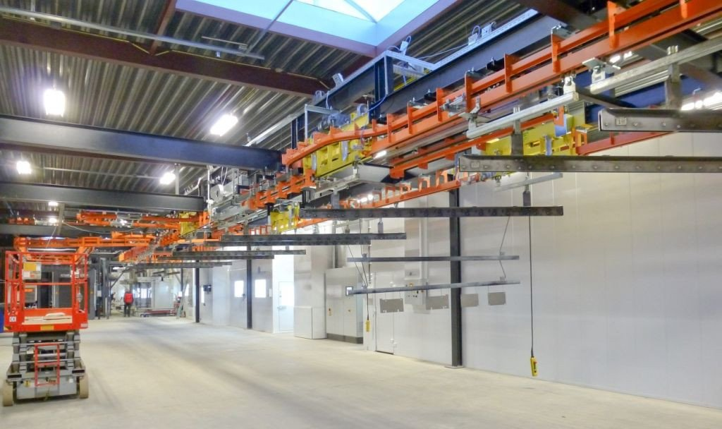 Fully automated paint line