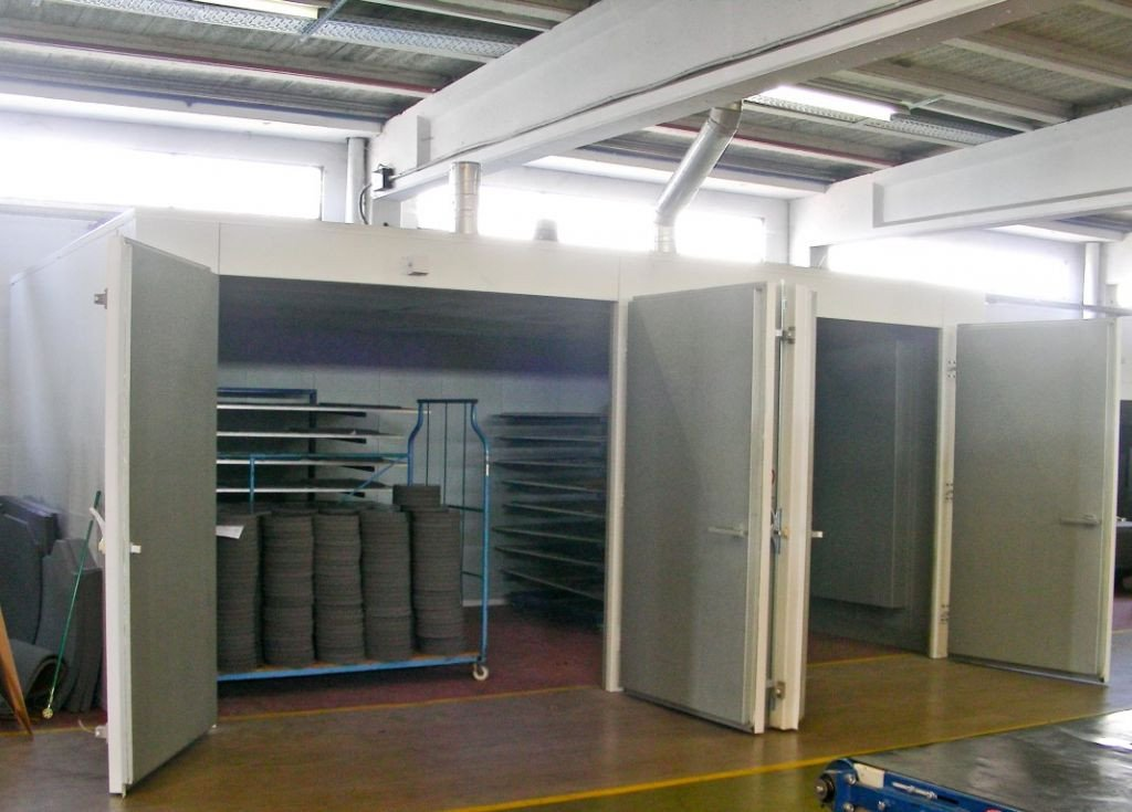 Standalone oven for production in batches, not continuously