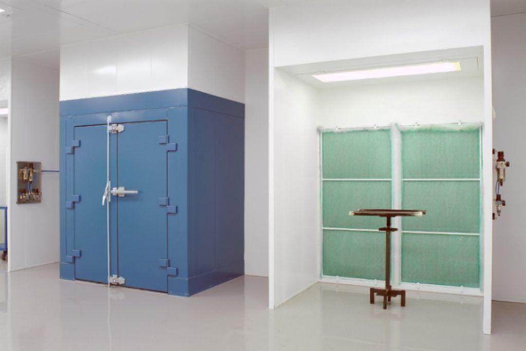 Cabine ouverte et étuve électrique pour sécher la peinture
