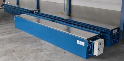 Étuve industrielle sur mesure pour chauffage des profils d'acier longs qui sont chargés par pont roulant