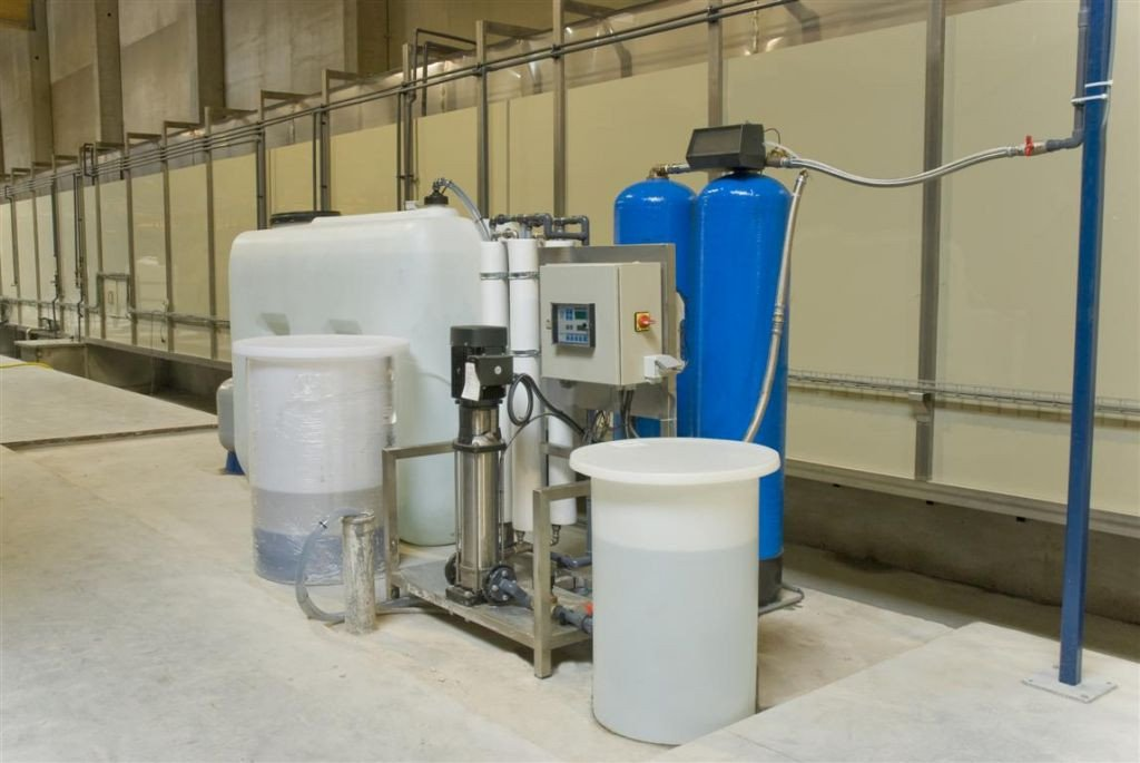 Deionized water installation for the pre-treatment