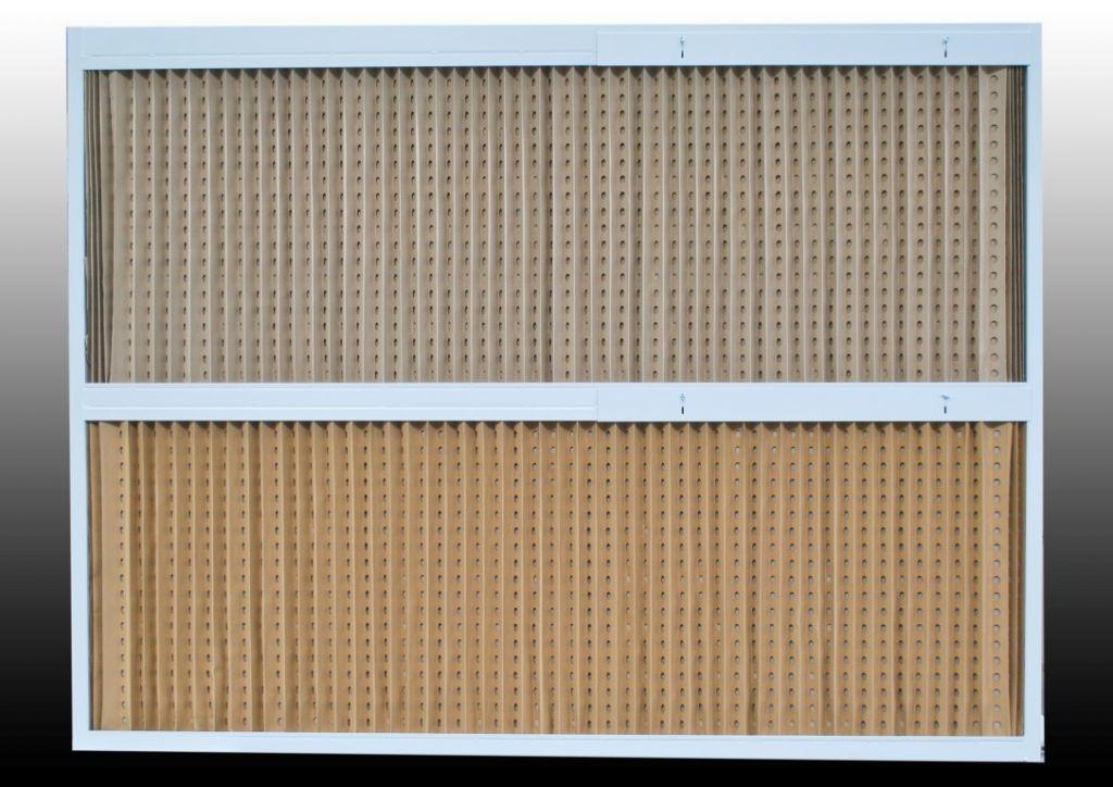 Cabine à filtre carton plissé pour la captation d'overspray