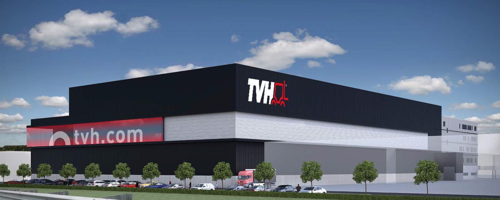 TVH nog steviger verankerd in Waregem door bouw volautomatisch hoogbouwmagazijn