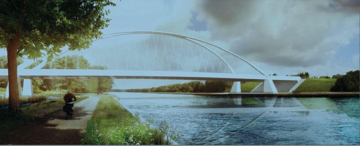 BM legt fundament voor nieuwe bruggen over Albertkanaal