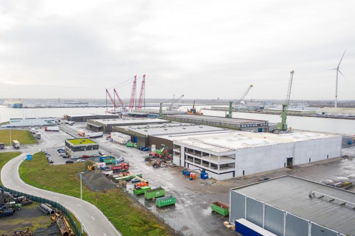 Belgian New Fruit Wharf - uitbreiding loods 6