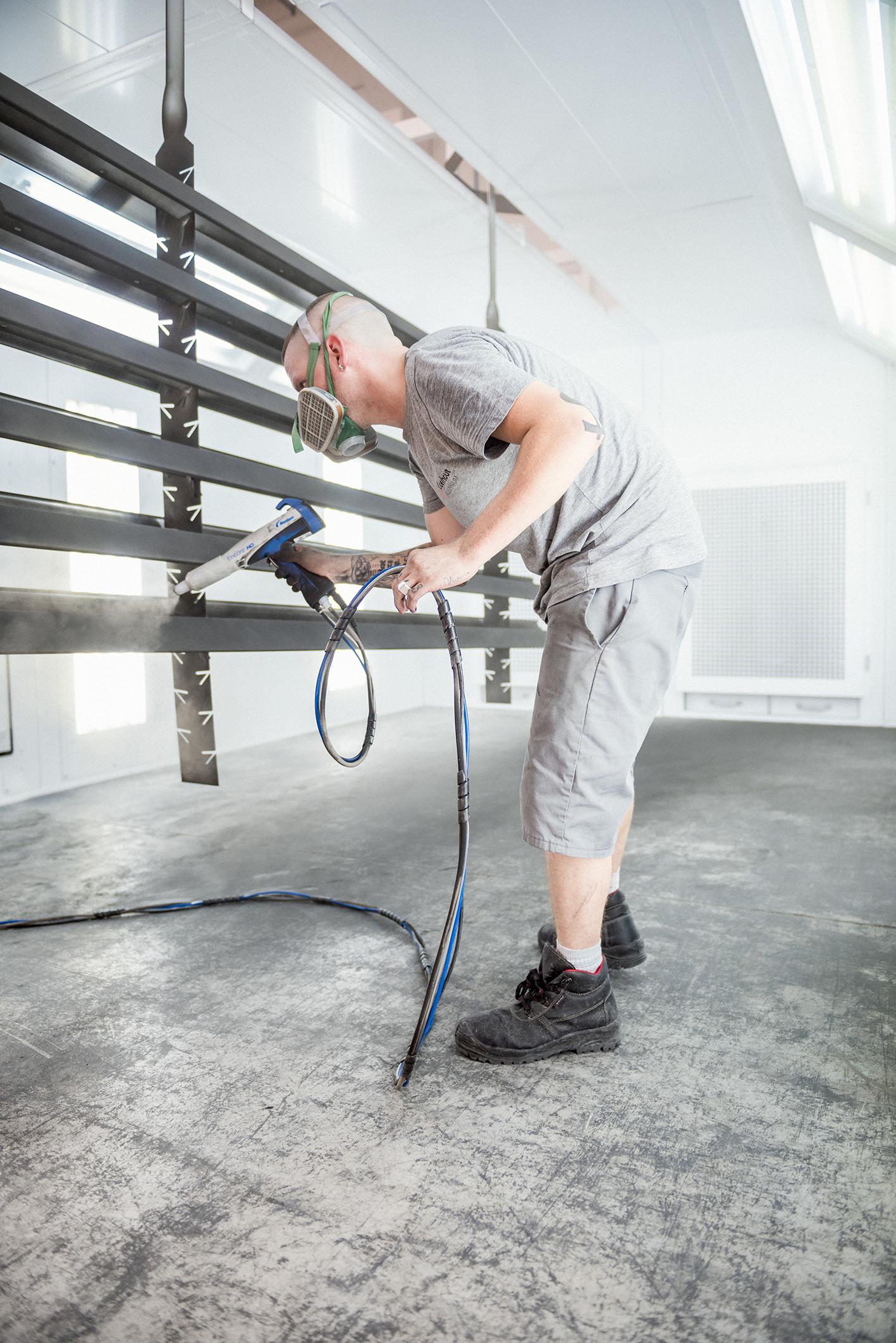 Fotoshoot over werken bij Claerhout Aluminium, art direction door Capone
