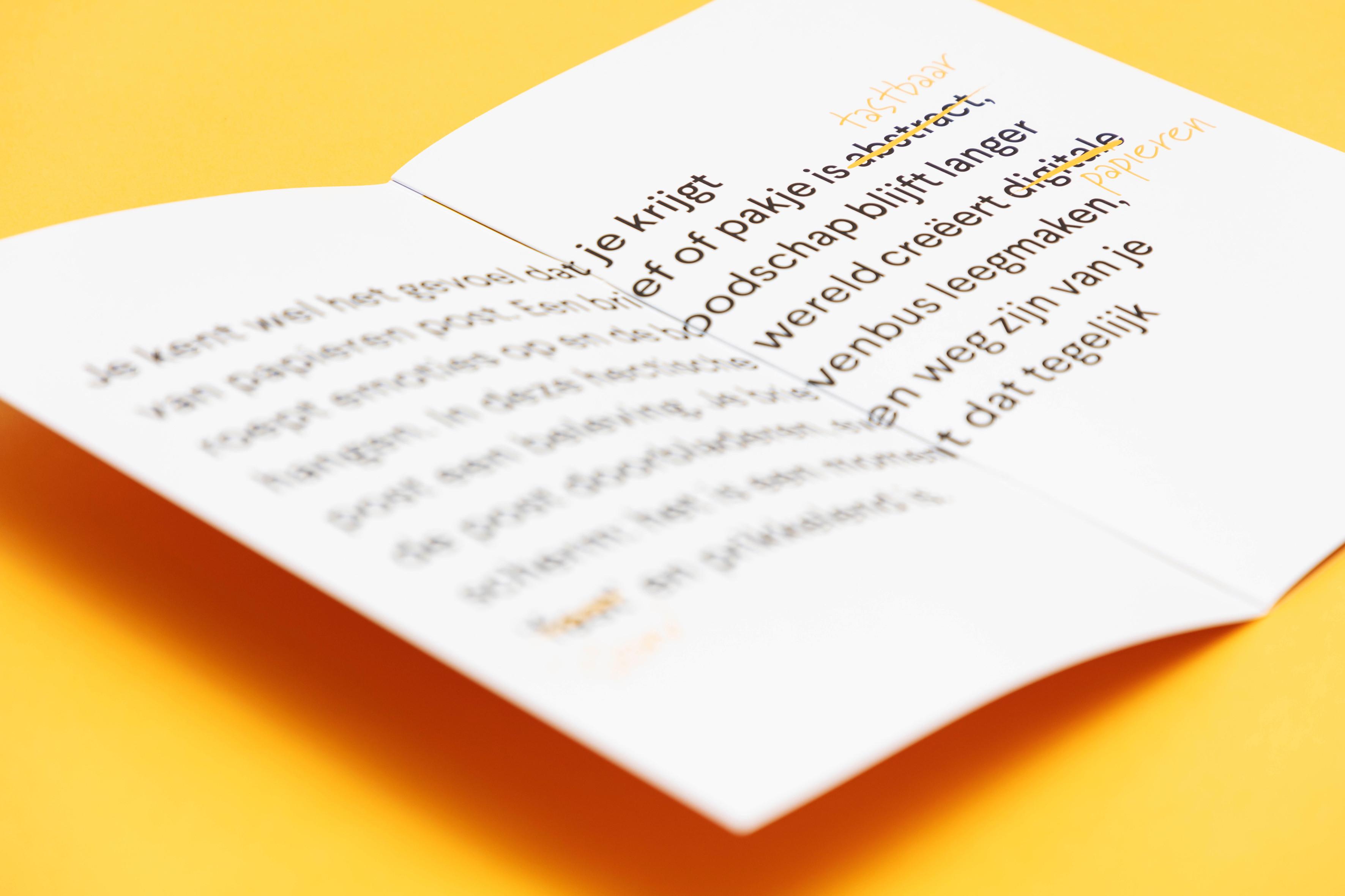 Een b2b-brochure mag iets bijzonders zijn. Dit is een verrassende folder die meteen nieuwsgierig maakt.