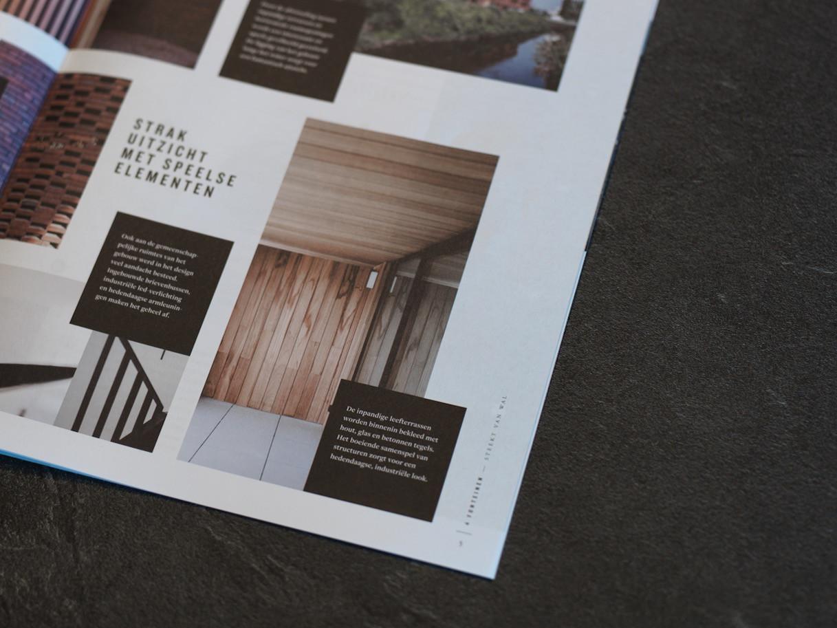Detail van het magazine 4 Fonteinen van projectontwikkelaar Matexi