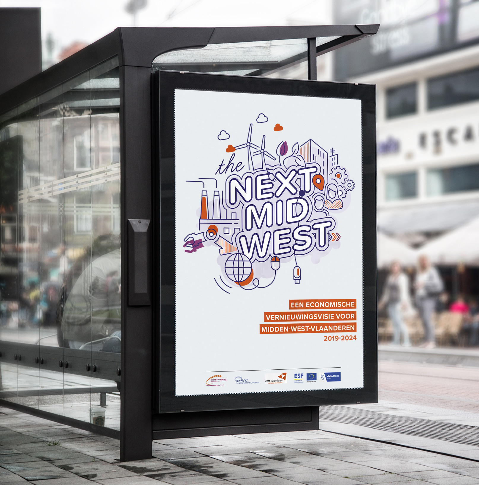 Dit creatieve campagnebeeld ontwikkelde Capone voor RESOC Midden-West-Vlaanderen.