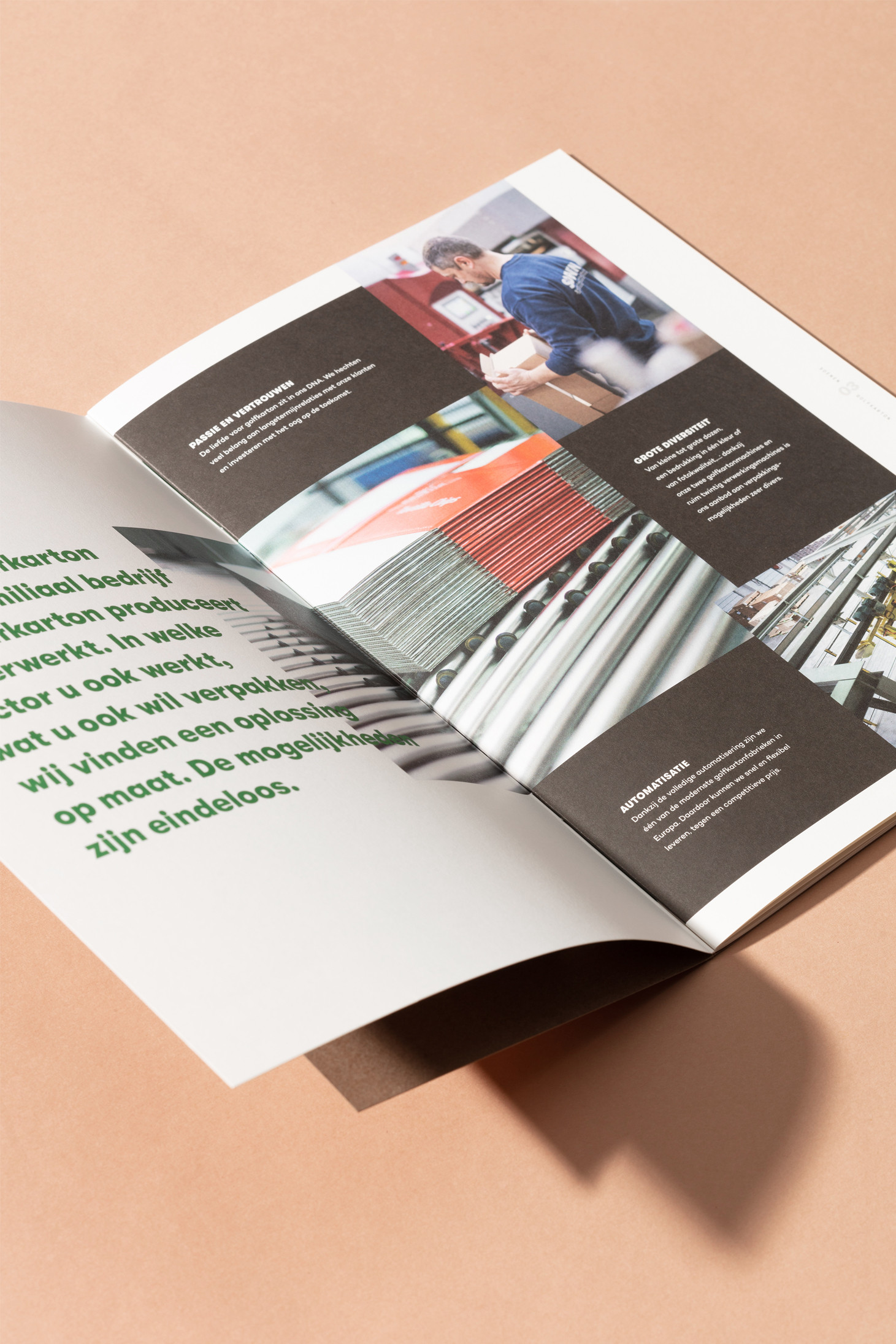 Storytelling en grafisch ontwerp voor b2b-brochure