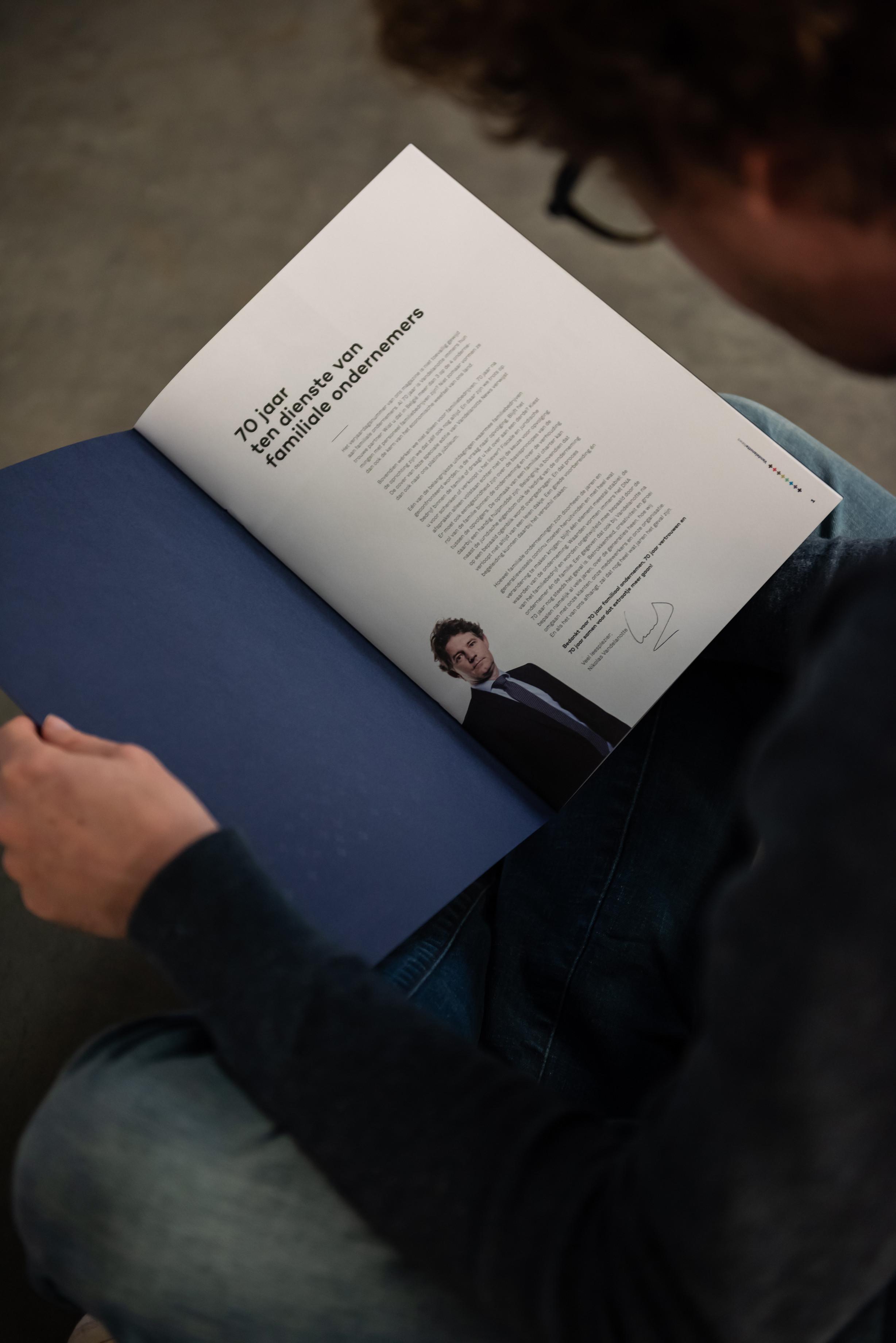 In een bedrijfsblad is het fijn om te openen met een woord vooraf door de CEO