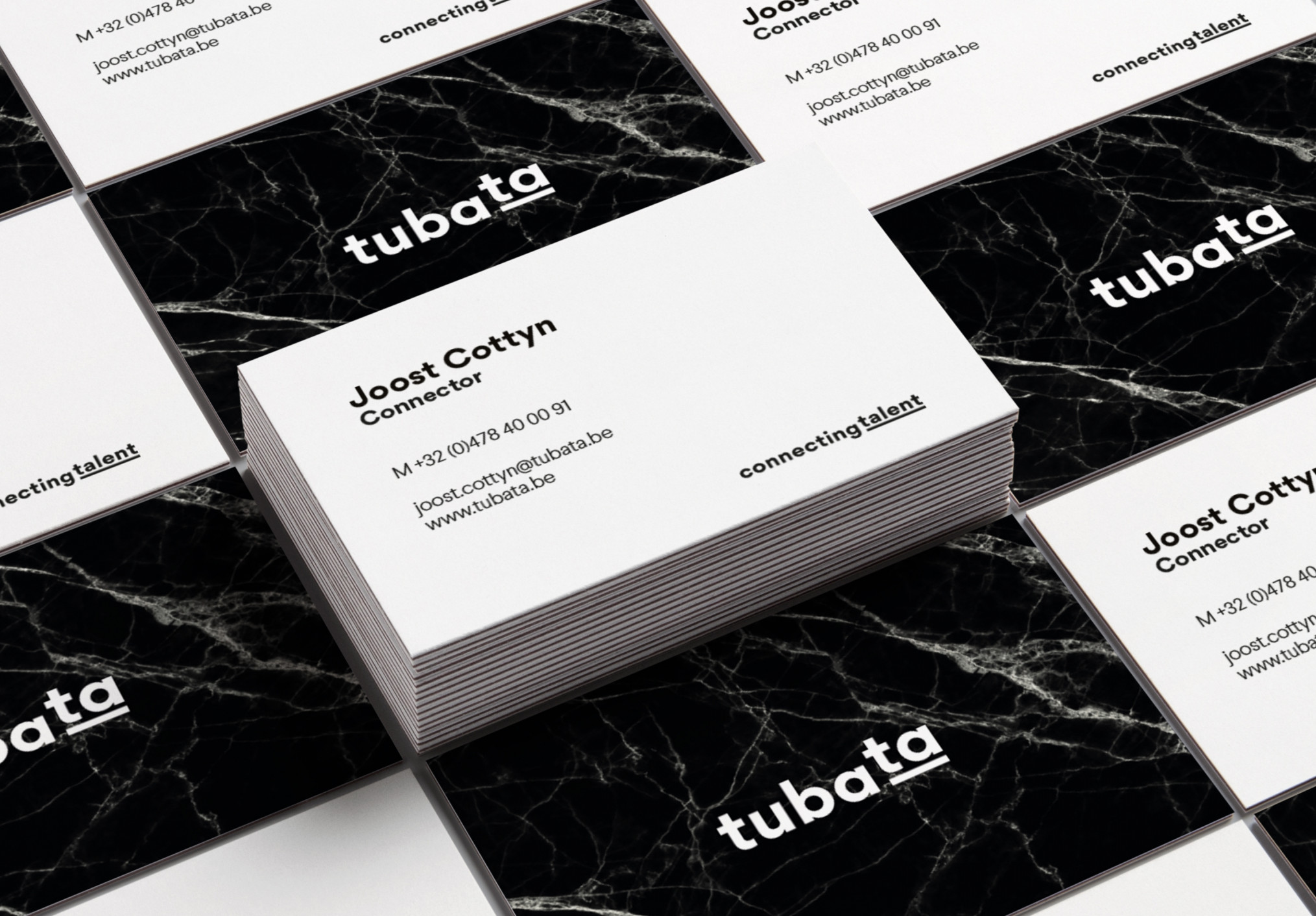 Voor Tubata ontwikkelden we een logo en een huisstijl, die we uitrolden in de volledige communicatie van het bedrijf.