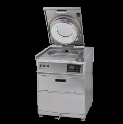 Compacte machine voor 30-100 maaltijden per dag - Volledig RVS - voor het wassen van groenten en...
