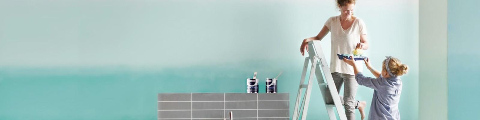 Sigma verf muren plafond pastelgroen