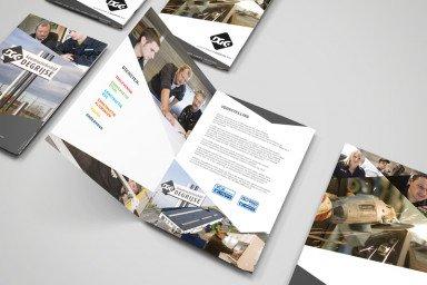 Folder Konstructiebedrijf Degrijse