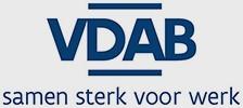 Logo VDAB Grijze achtergrond
