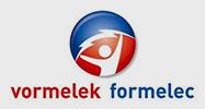 Logo Vormelek Formelec Grijze achtergrond