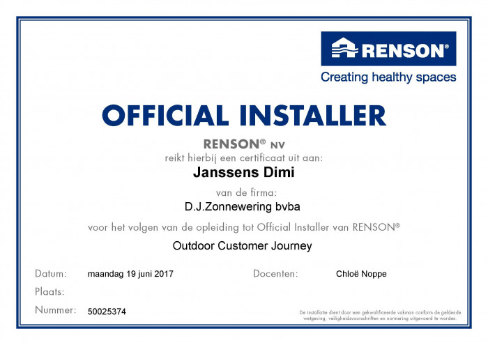 Renson Customer training.jpg