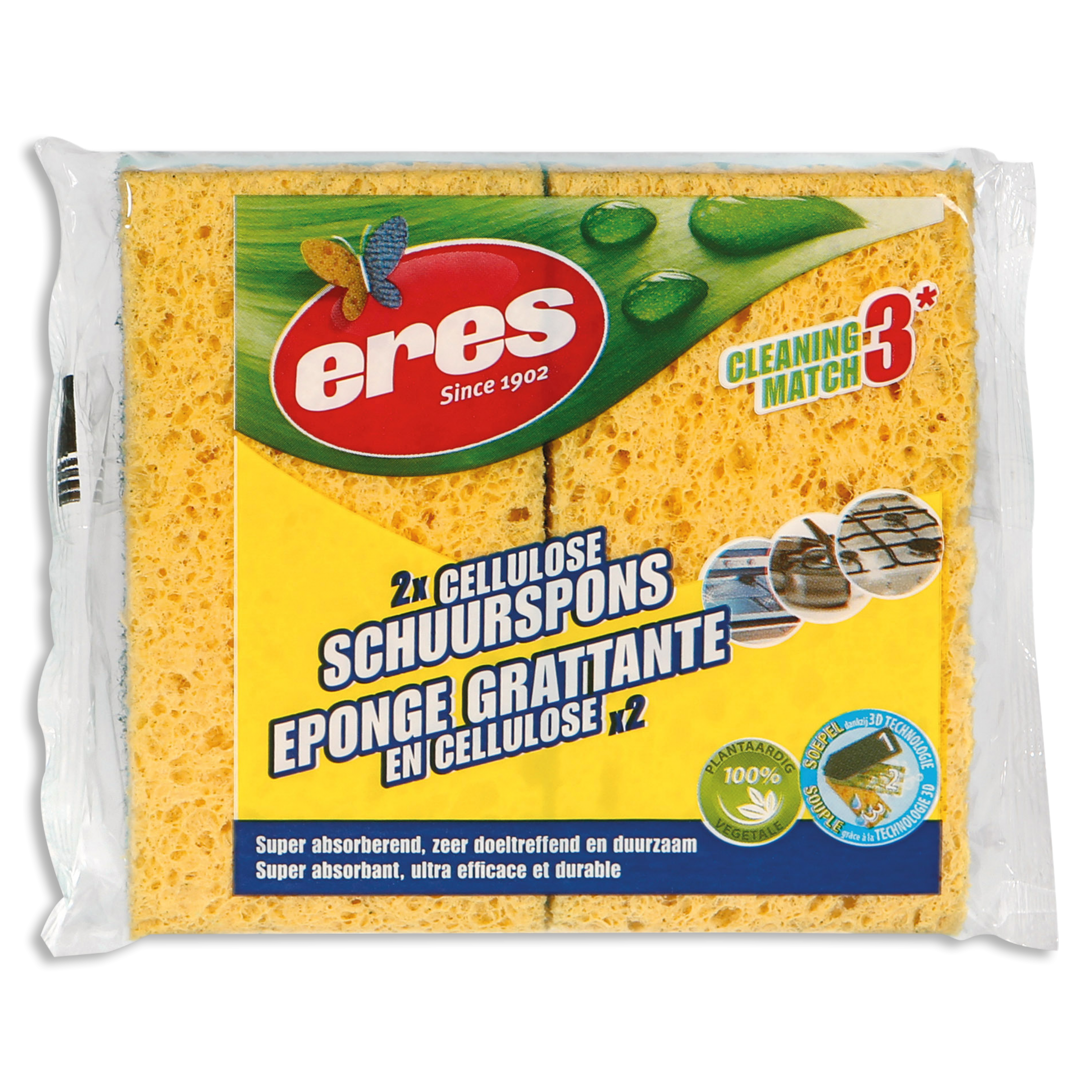 CELLULOSE SCHUURSPONS (PER 2)