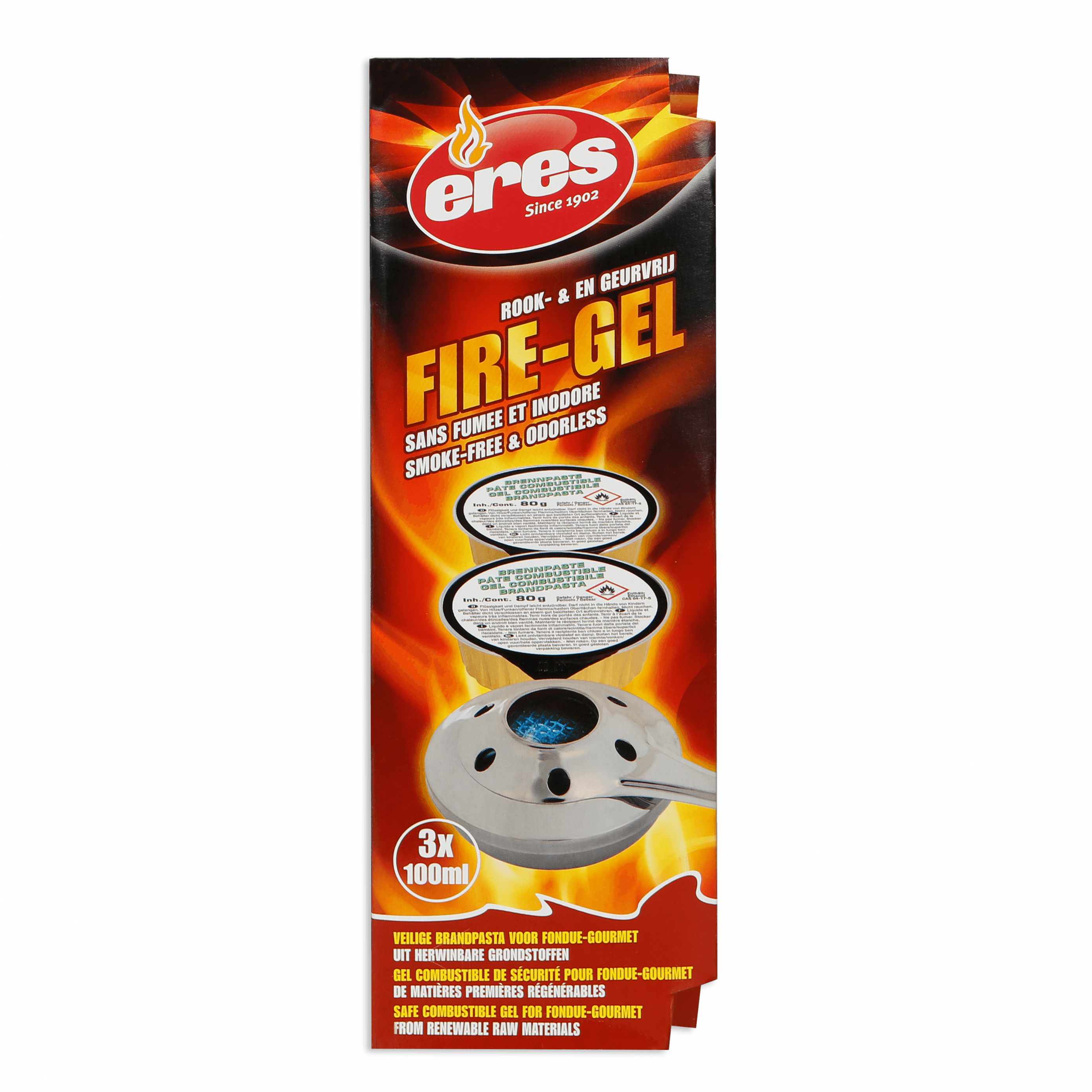 FIRE-GEL coupelles (par 3)