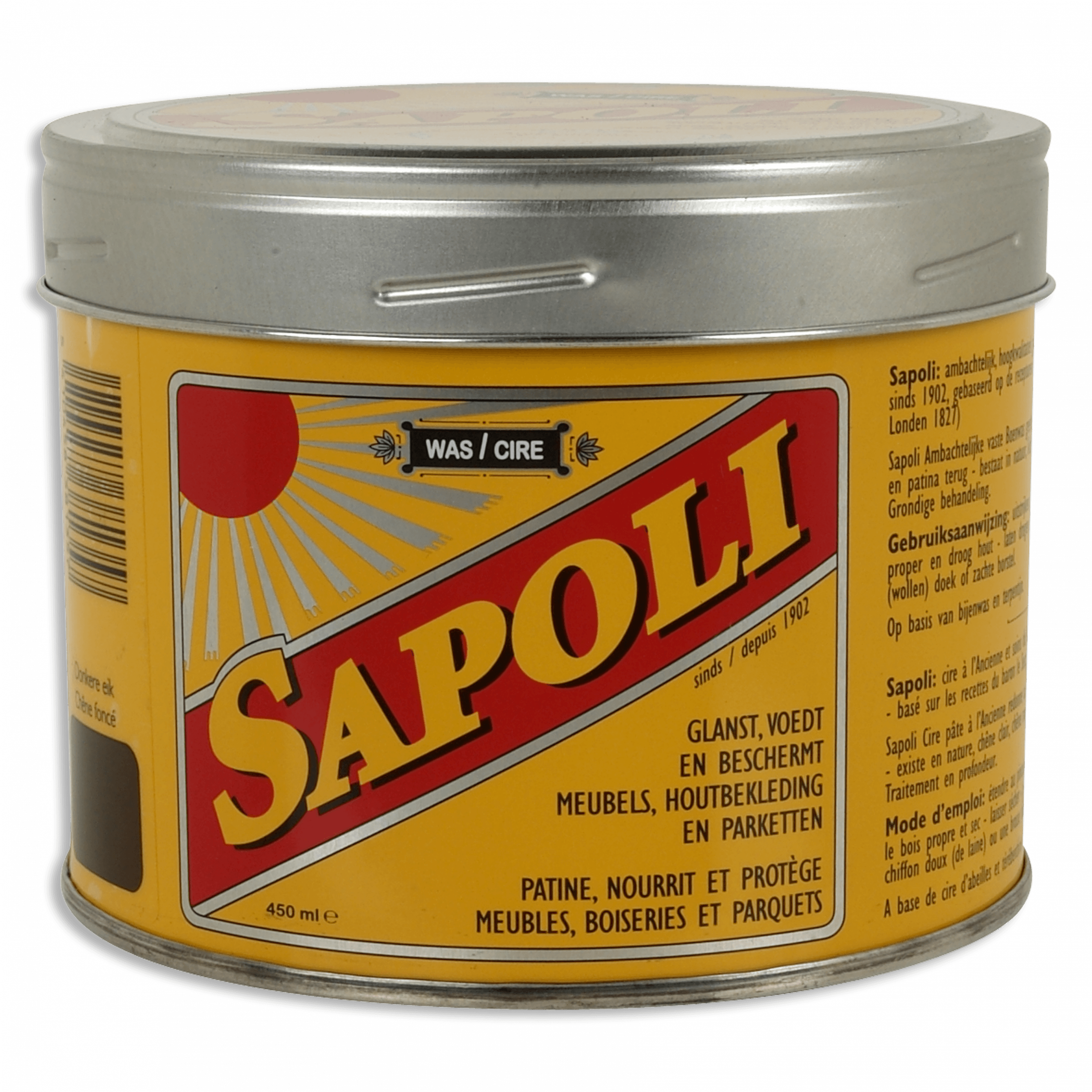 SAPOLI SOLID WAX DARK OAK