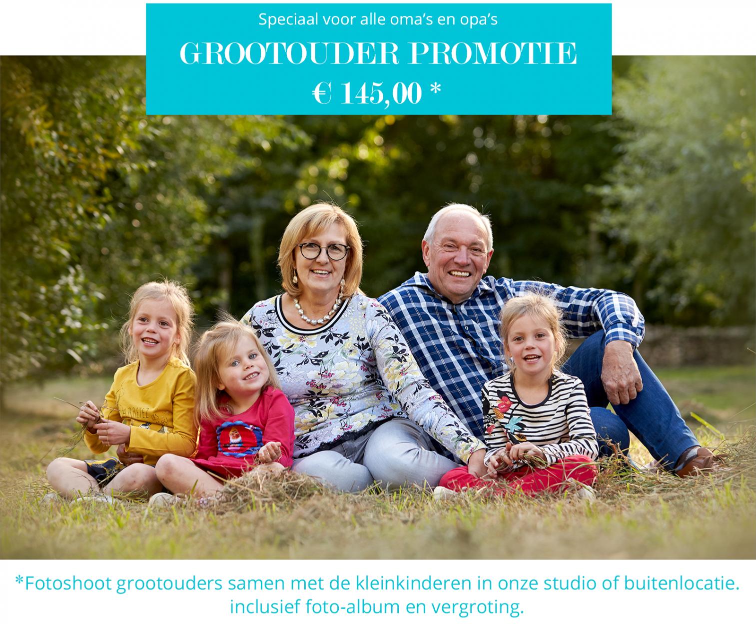 Grootouder & kleinkinder promotie