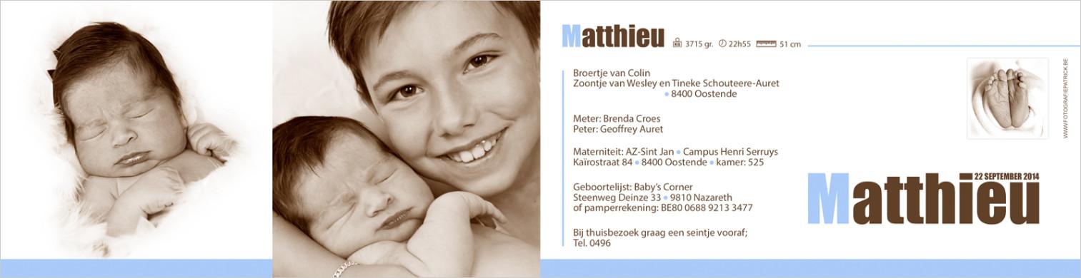 Geboortekaartje met foto van Thibaut