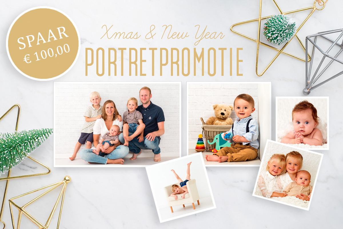 Kerst en Nieuwjaar portretpromotie