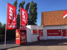 Esso zet container Vicasa aan tankstation