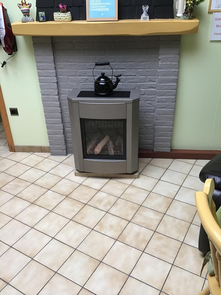 vrijstaande gaskachel open verbranding Well Straler A7 inox