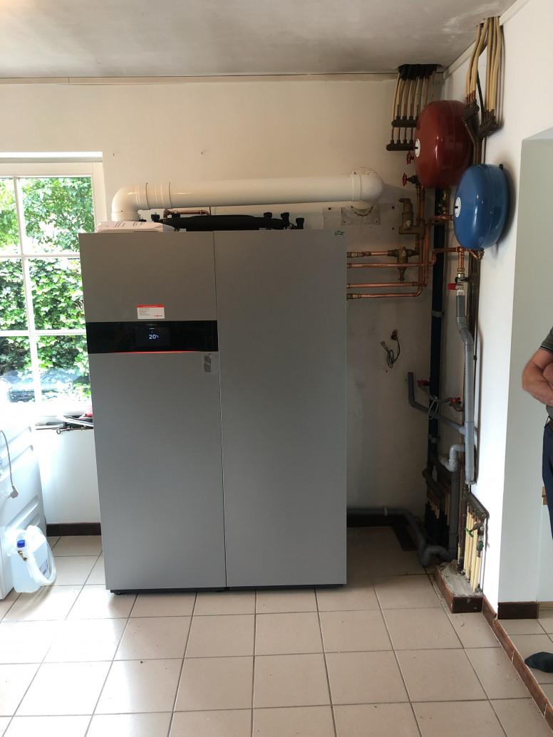 brandstofcel Viessmann Vitovalor in particuliere woning met opwekking gratis elektriciteit