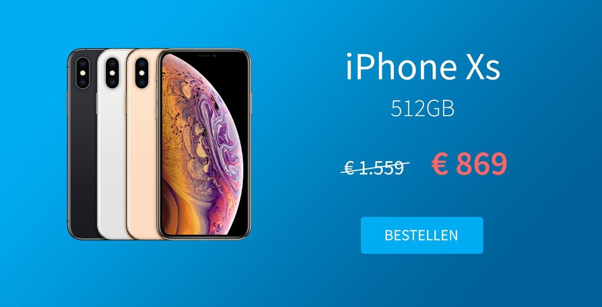 iPhone Xs promotie